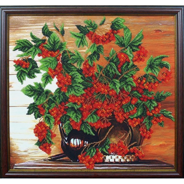 Набор для вышивания бисером МАГИЯ КАНВЫ арт.Б095 Калина красная 42х40 см