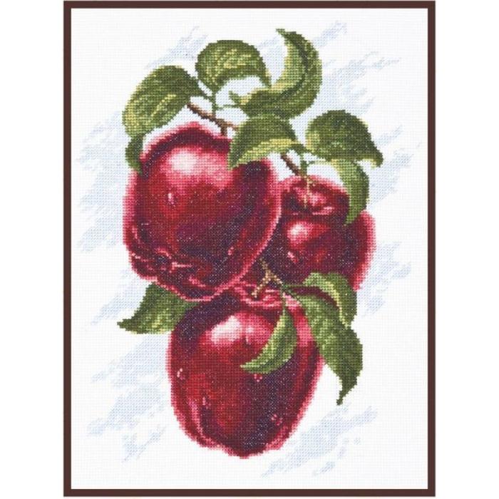 Набор для вышивания ПАЛИТРА арт.04.005 Спелые яблоки 20х25 см
