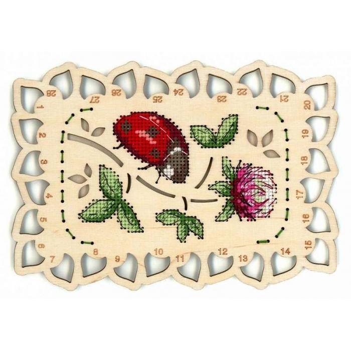 Набор для вышивания Щепка арт.О-040 Органайзер Божья коровка 19х13 см