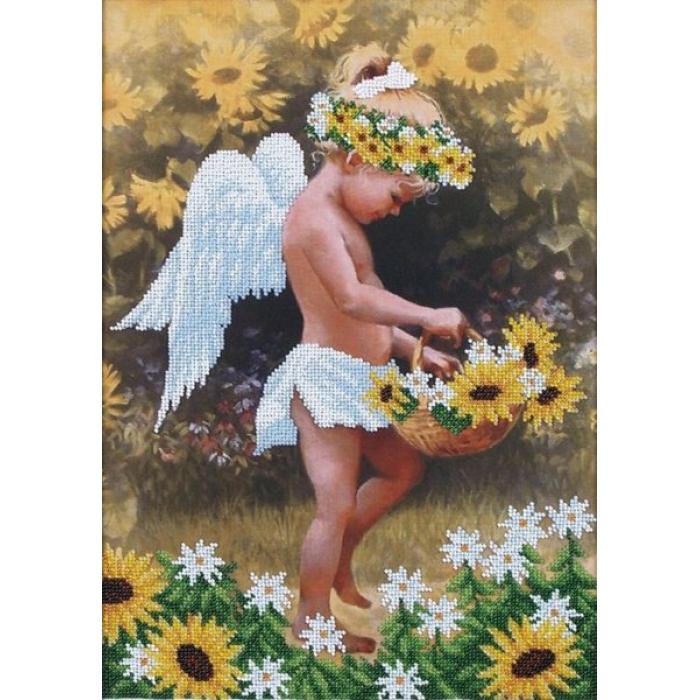 Набор для вышивания бисером МАГИЯ КАНВЫ арт.Б017 Мой ангел 27х38 см