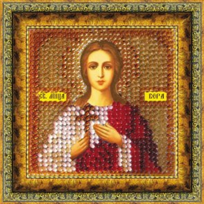 Набор для вышивания ВЫШИВАЛЬНАЯ МОЗАИКА арт. 047ПМИ Св.Мученица Вера 6,5х6,5см