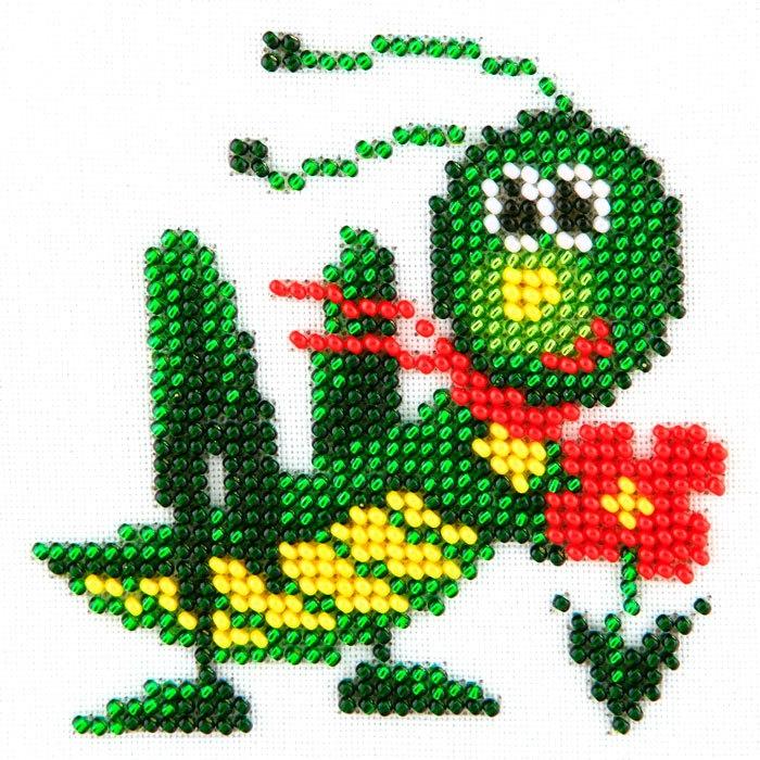 Набор для вышивания бисером LOUISE арт. L465 Кузнечик 11х11 см