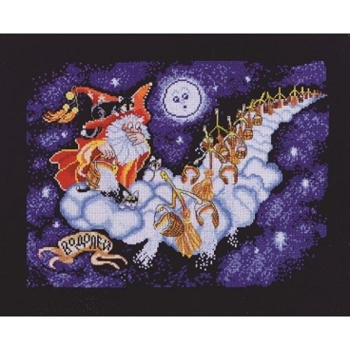 Набор для вышивания АЛИСЕНА арт.1098 Знаки зодиака - Водолей 30х23 см