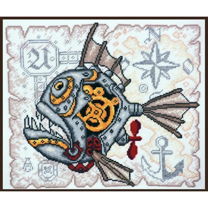 Набор для вышивания ПАЛИТРА арт.05.005 Стимфиш 27х27 см