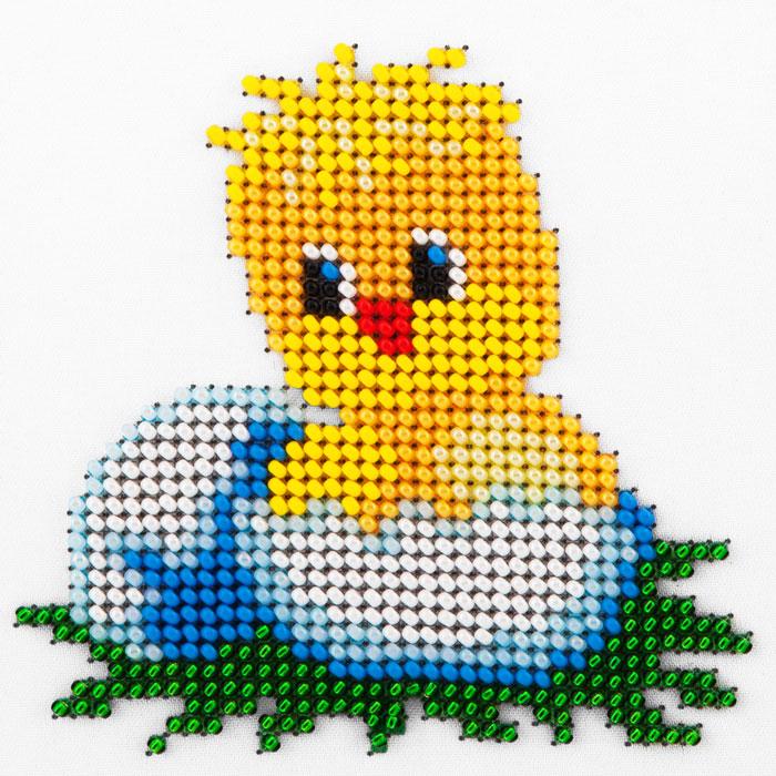 Набор для вышивания бисером LOUISE арт. L423 Только из яйца 11х11 см