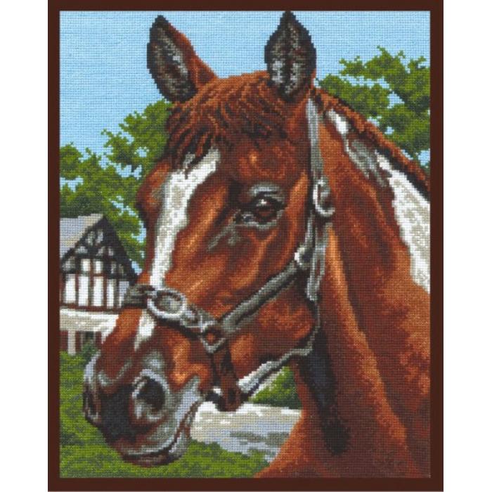 Набор для вышивания ПАЛИТРА арт.03.004 Старая конюшня 26х32 см