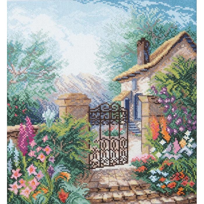 Набор для вышивания Crystal Art арт.BT-241 Цветущий сад 22.5x24.5 см