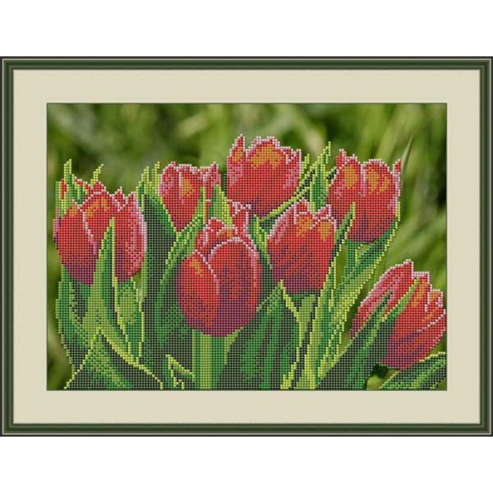Набор для вышивания бисером GALLA COLLECTION арт.Л 326 Тюльпаны 32х23 см