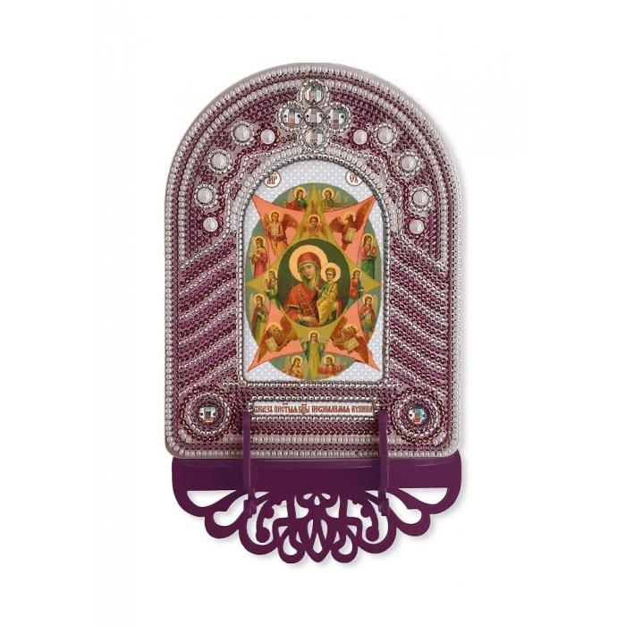 Набор для вышивания бисером НОВА СЛОБОДА арт.ВК1017 Богородица Неопалимая Купина 10х13 см