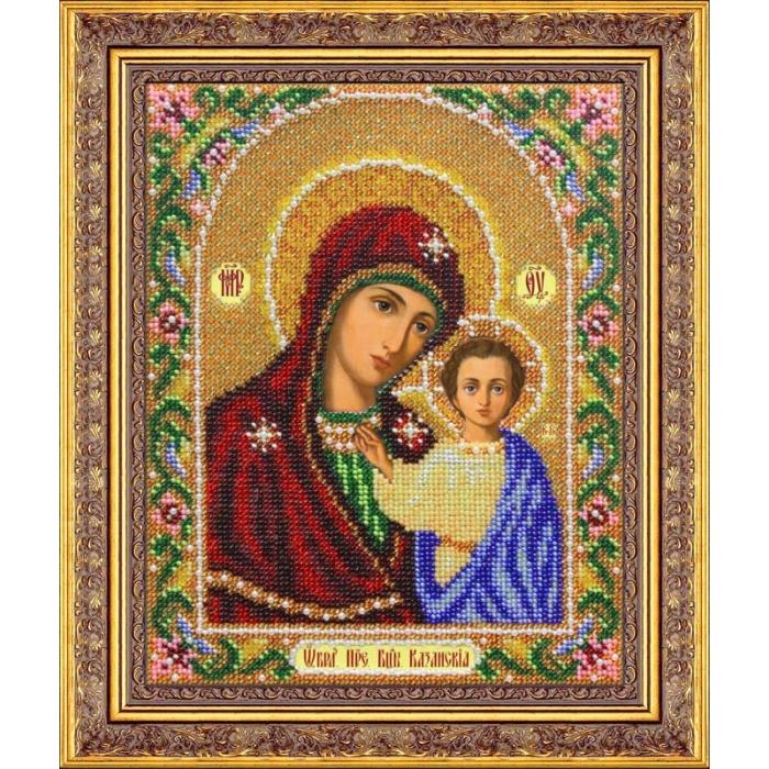 Набор для вышивания бисером ПАУТИНКА арт.Б-1012 Богородица Казанская 20х25 см