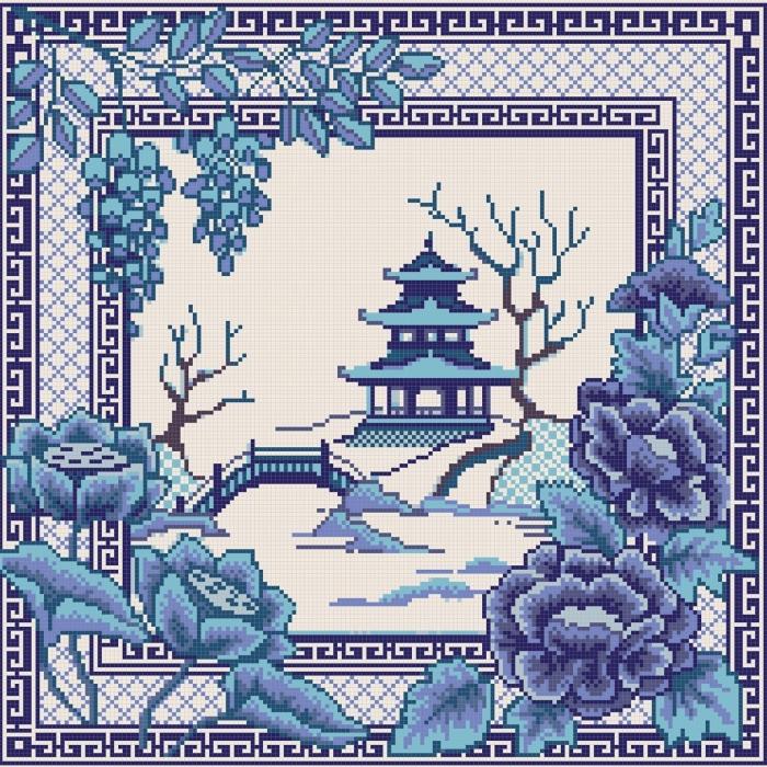 Рисунок на канве КОНЁК арт. 7816 Волшебная страна 40х40 см