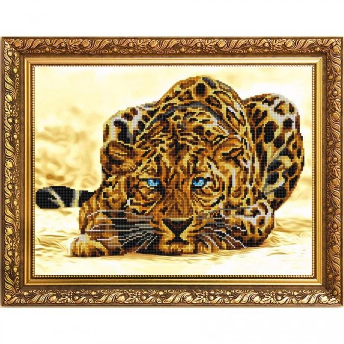 Рисунок на ткани (Бисер) КОНЁК арт. 1202 Леопард 29х39 см