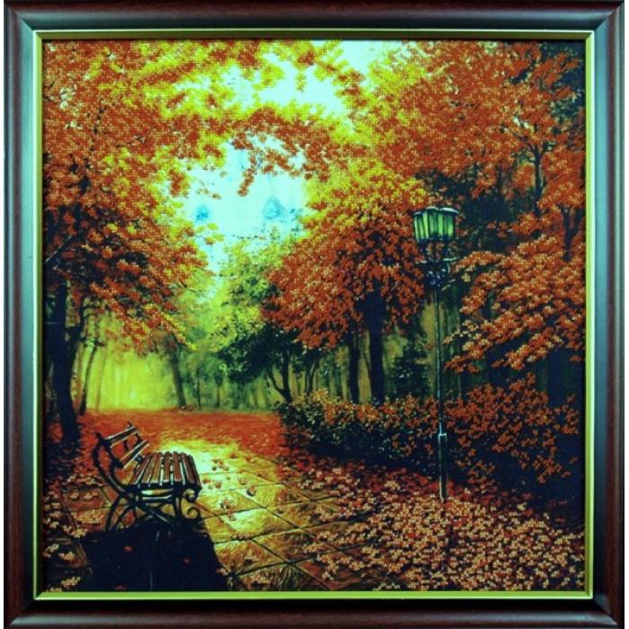 Набор для вышивания бисером МАГИЯ КАНВЫ арт.Б010 Осенний парк 39х40 см