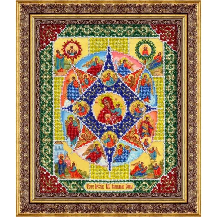 Набор для вышивания бисером ПАУТИНКА арт.Б-1041 Пр.Богородица Неопалимая купина 20х25 см