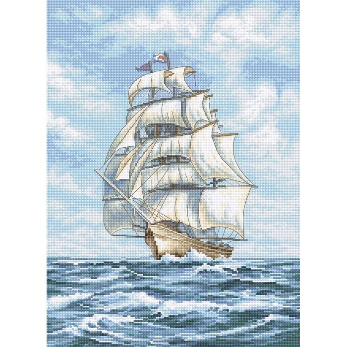 Набор для вышивания LETI арт. 907 Корабль 25х35 см