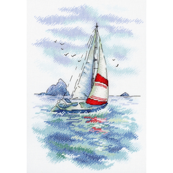 Набор для вышивания МП СТУДИЯ арт.А-009 Морская регата 25х18 см