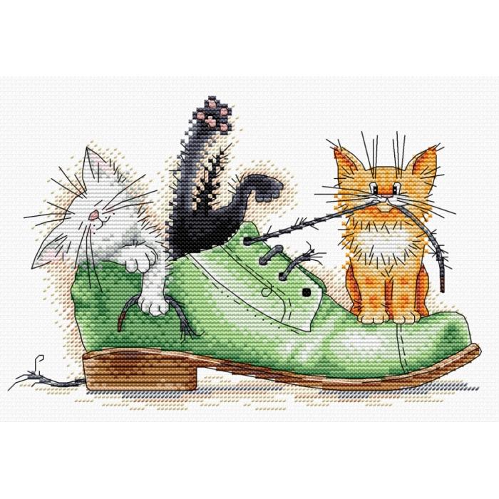Набор для вышивания ЖАР-ПТИЦА арт.М-185 Непоседы 16х23см