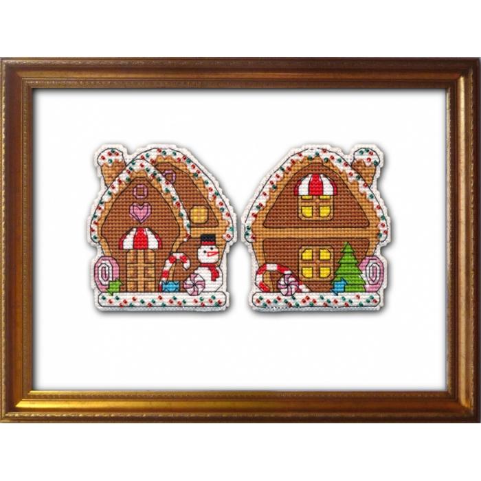 Набор для вышивания ОВЕН арт. 1132 Пряничный домик 7,6х8,3 см
