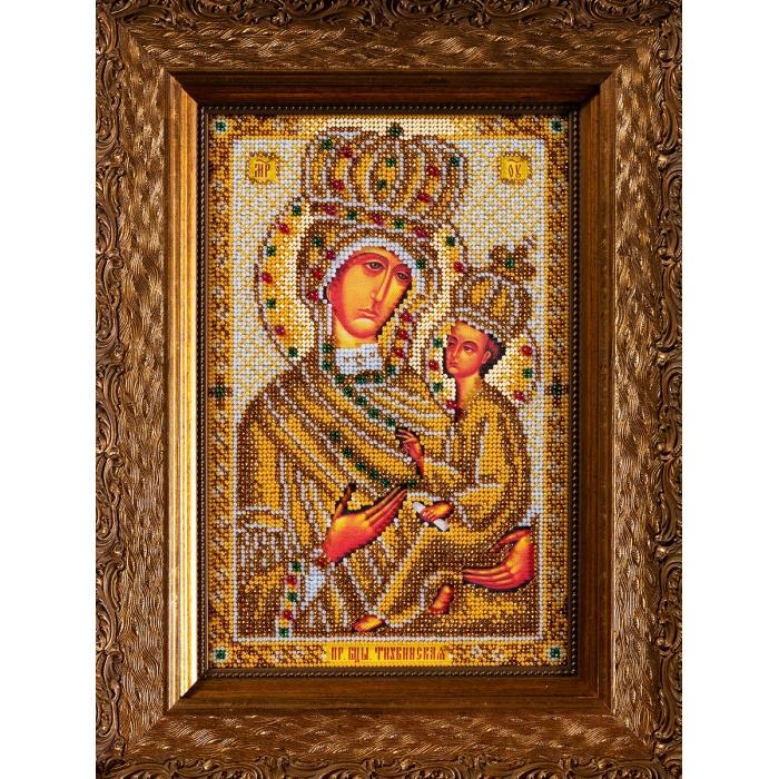 Набор для вышивания бисером КРОШЕ арт. В-200 Тихвинская Богородица 17x26 см