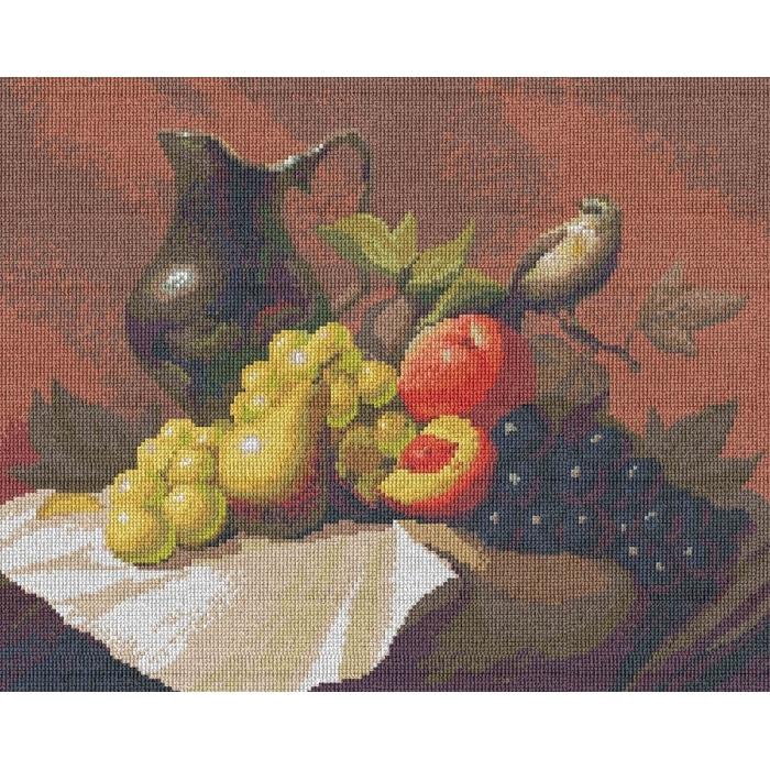 Набор для вышивания мулине НИТЕКС арт.0022 Натюрморт с кувшином 40х32 см