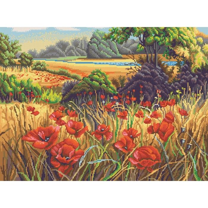 Рисунок на канве КОНЁК арт. 7818 Поле маков 45х60 см