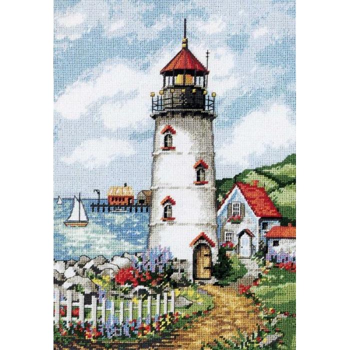 Набор для вышивания DIMENSIONS арт.DMS-02436 Маяк в бухте 25х36 см