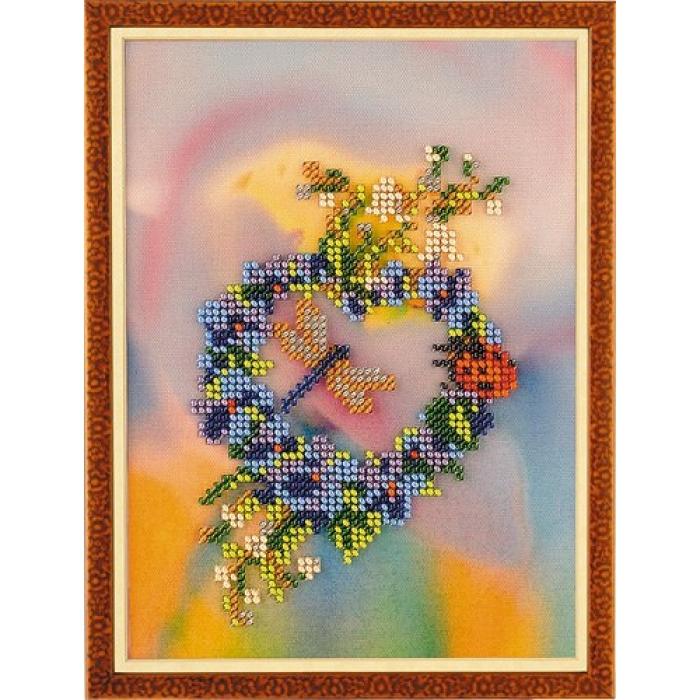 Набор для вышивания бисером КРОШЕ арт. В-213 Фантазия 13x18 см