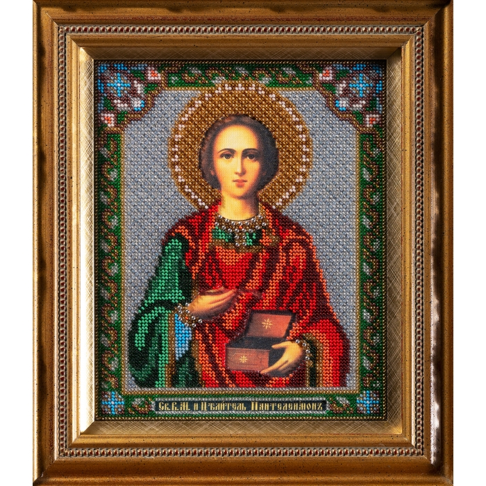 Набор для вышивания бисером КРОШЕ арт. В-159 Свт.Пантелеимон 19x23 см