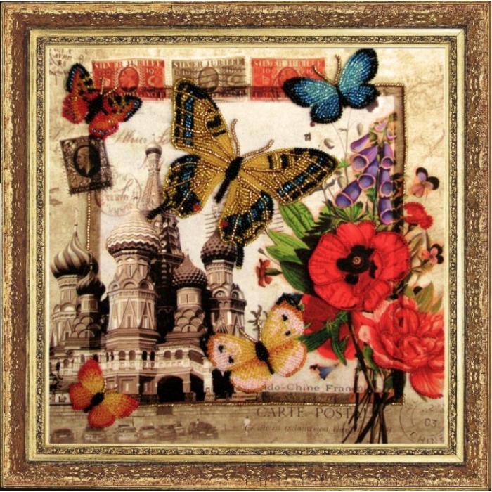 Набор для вышивания BUTTERFLY арт. 113 Привет из России 26х27 см