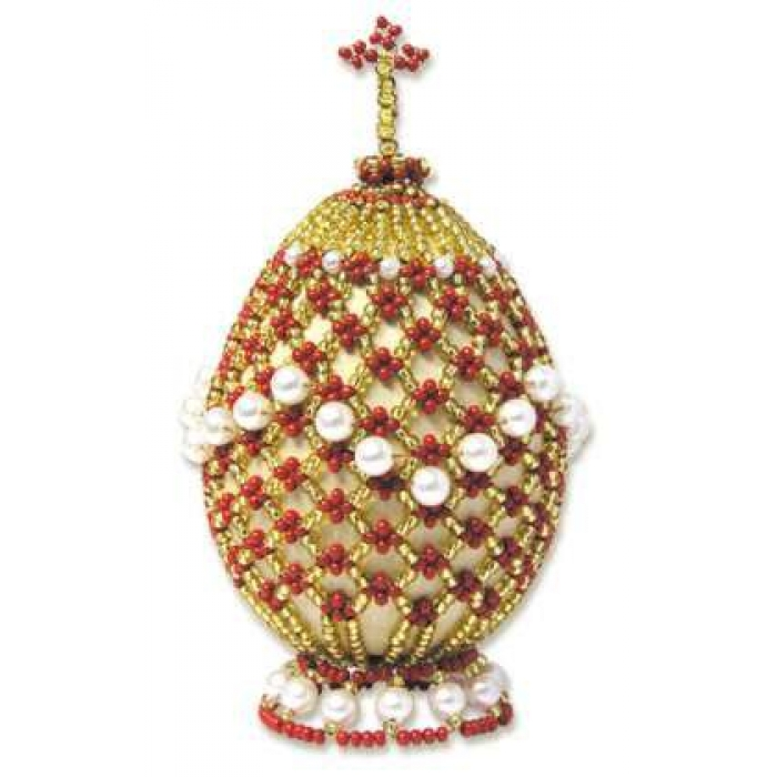 Набор для бисероплетения РИОЛИС арт.Б024 Яйцо пасхальное 2 9,5х5 см