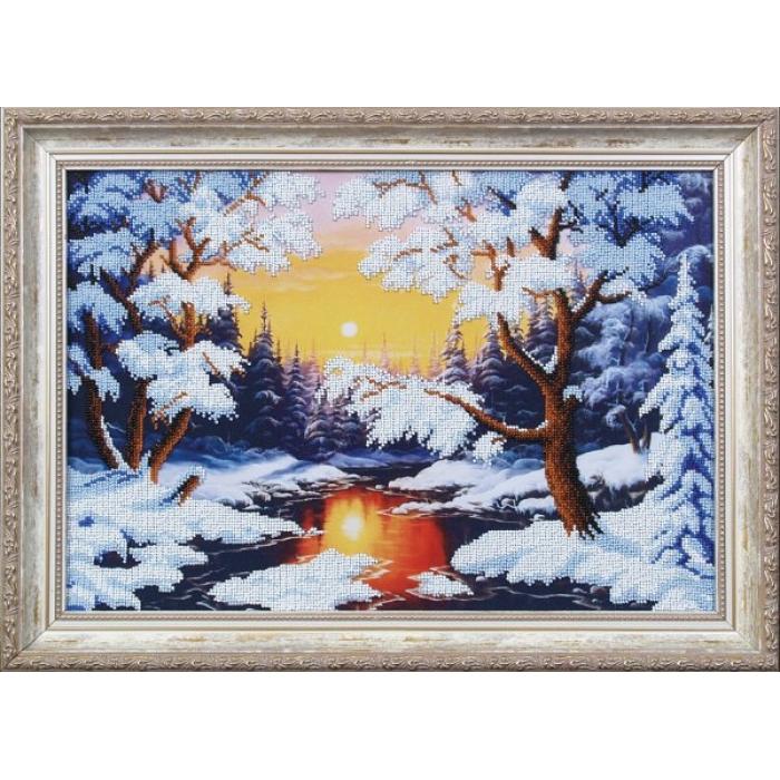Набор для вышивания бисером МАГИЯ КАНВЫ арт.Б079 Зимняя сказка 41х28 см