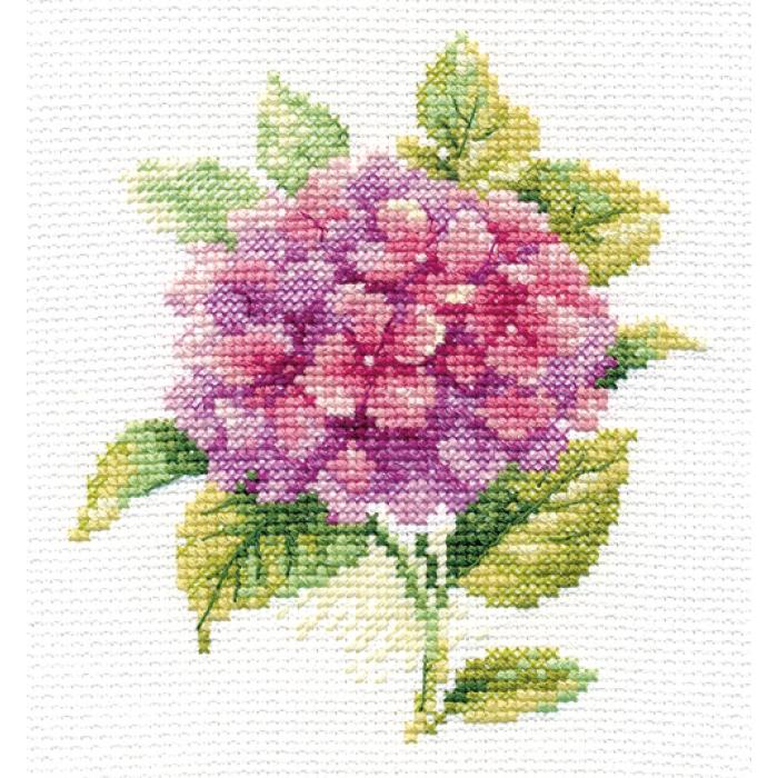 Набор для вышивания АЛИСА арт.0-137 Гортензия 12х12 см
