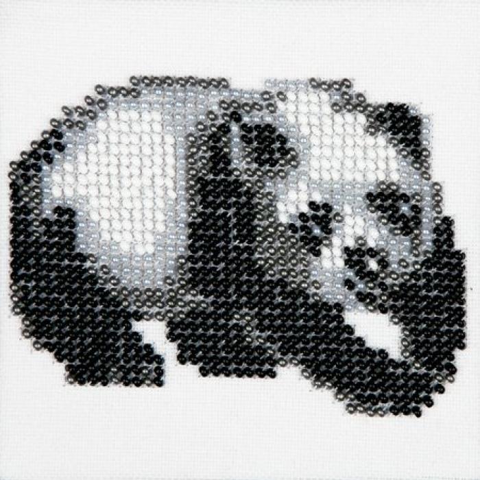 Набор для вышивания бисером LOUISE арт. L454 Панда 11х11 см