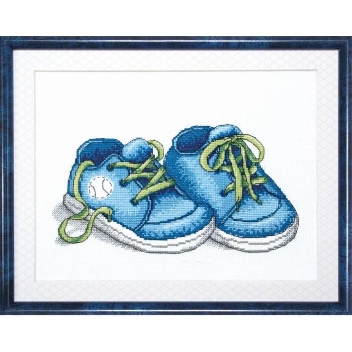 Набор для вышивания Crystal Art арт.BT-007 Первые шаги цв.голубой 24х18 см