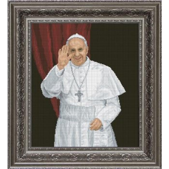 Набор для вышивания мулине КРАСА И ТВОРЧЕСТВО арт.10413 Папа Римский 33,5х38,5 см