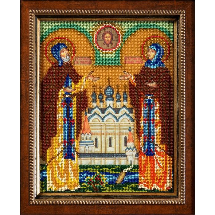Набор для вышивания бисером КРОШЕ арт. В-180 Петр и Февронья 20х25 см