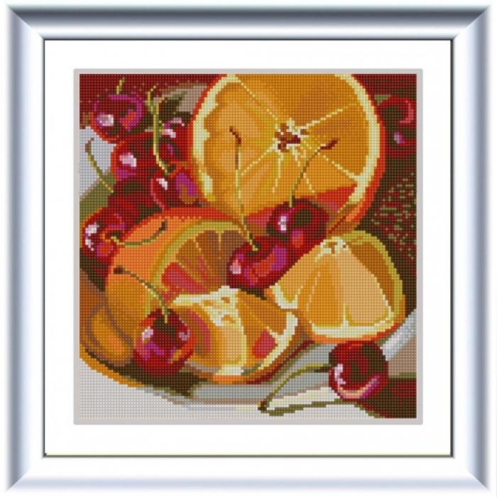 Рисунок на ткани (Бисер) КОНЁК арт. 1255 Апельсин 25х25 см