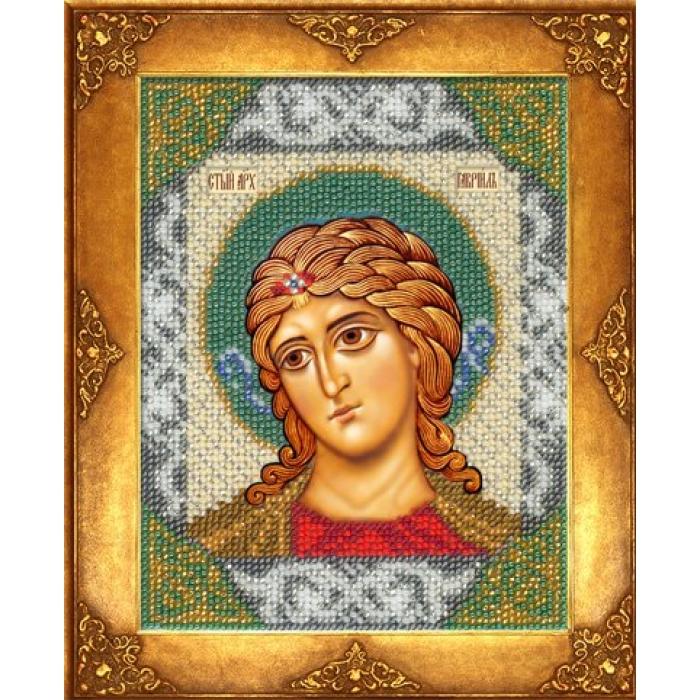 Набор для вышивания бисером РУССКАЯ ИСКУСНИЦА арт.215 БИ Св. Гавриил 12,5х16,3 см