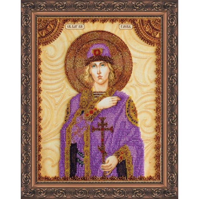 Набор для вышивания бисером АБРИС АРТ арт. AA-077 Святой Глеб 23х30 см