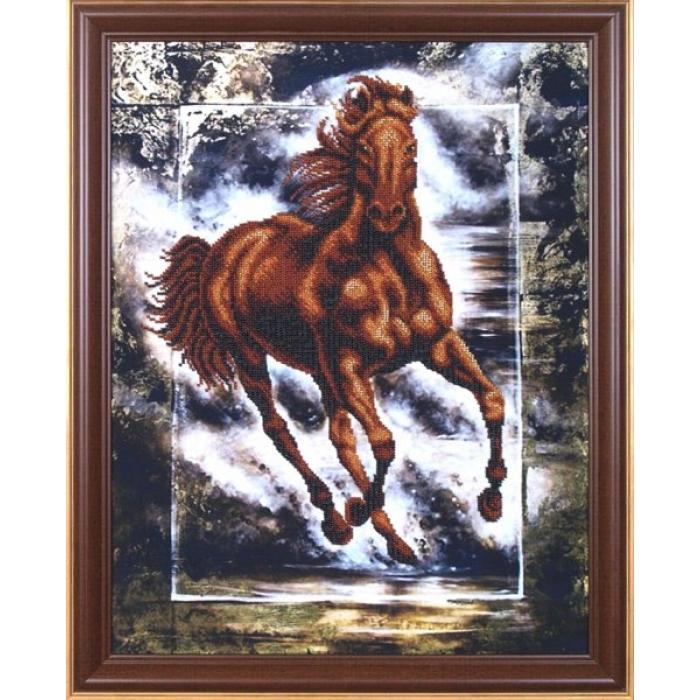 Набор для вышивания бисером МАГИЯ КАНВЫ арт.Б053 Победный конь 35х44,5 см
