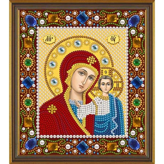 Набор для вышивания бисером НОВА СЛОБОДА арт.Д6025 Богородица Казанская 13х15 см