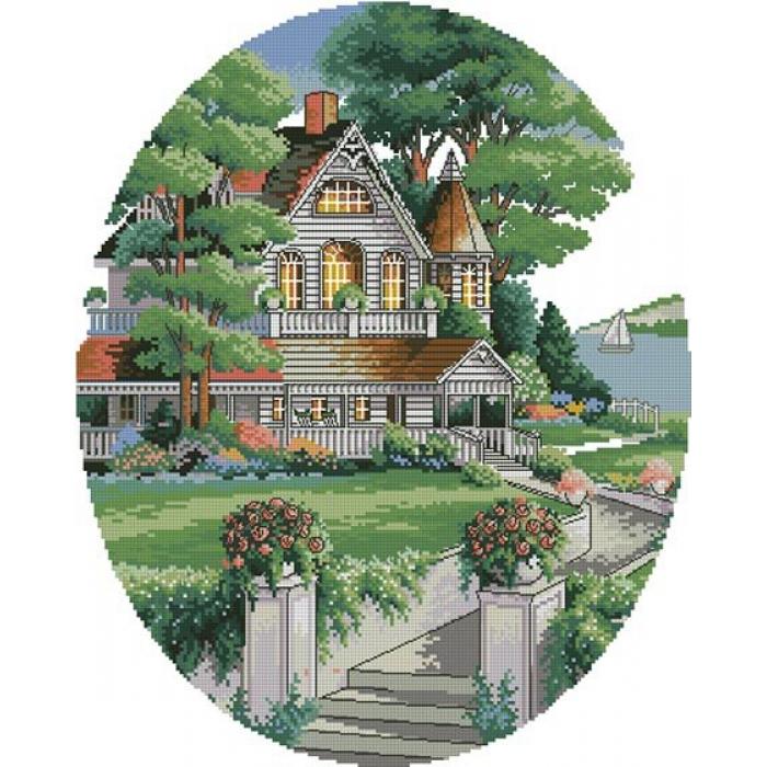 Набор для вышивания DIMENSIONS арт.DMS-03874 Викторианский дом 30х38 см