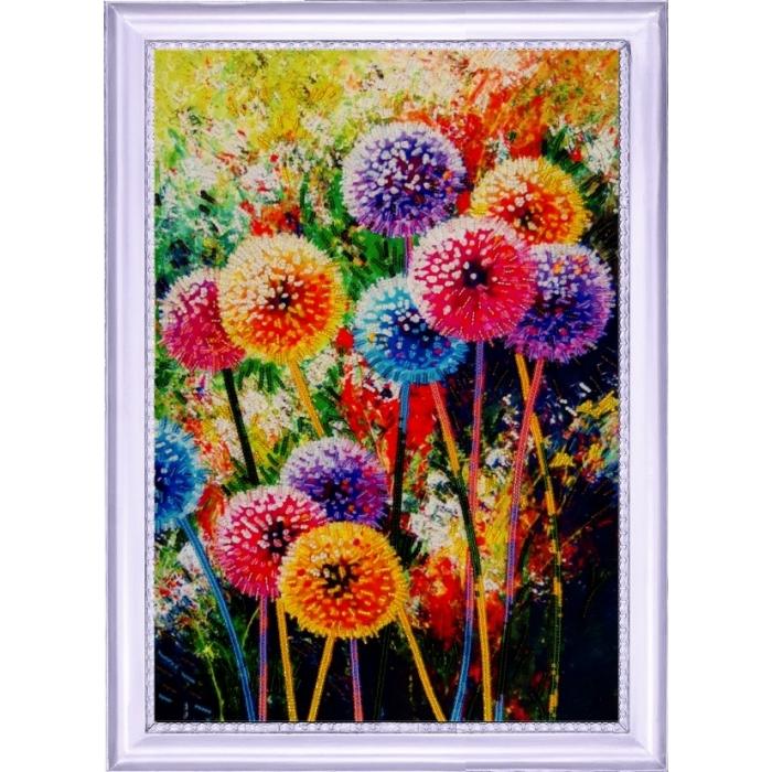 Набор для вышивания BUTTERFLY арт. 134 Радужные одуванчики 37х25 см