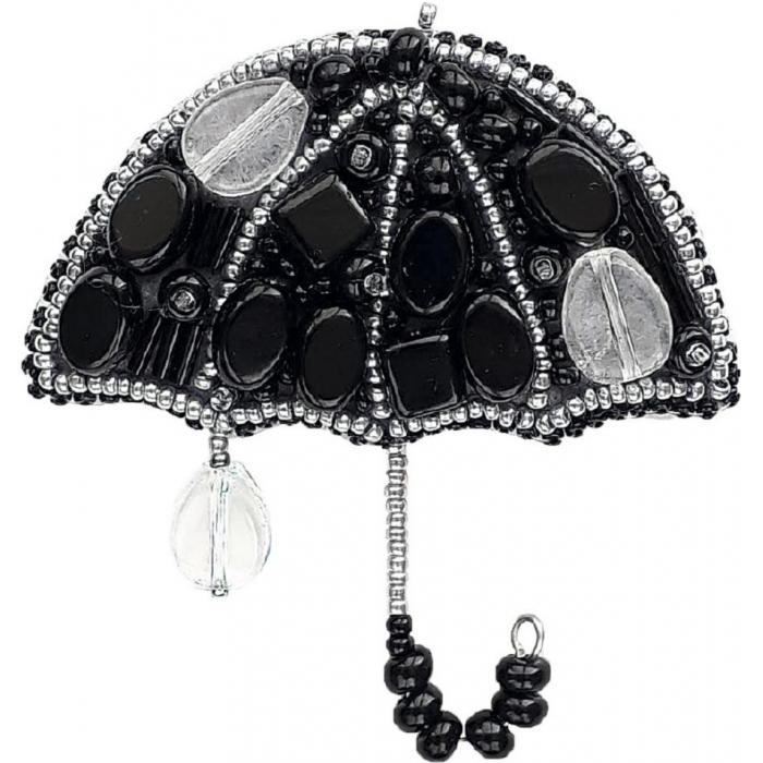 Набор для бисероплетения Crystal Art арт.БП-203 Вечерний дождик(зонтик) брошь 7,5х7 см