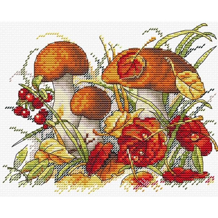 Набор для вышивания ЖАР-ПТИЦА арт.М-193 Дары осеннего леса 18х13см