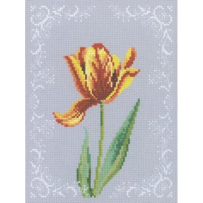 Набор для вышивания РТО арт.C156 Тюльпан 15х20 см