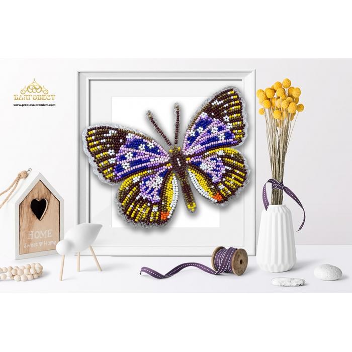 Пластиковая перфорированная основа БЛАГОВЕСТ арт.БС-045 3-D Бабочка. Papilio Rumanzovia 10х12 см