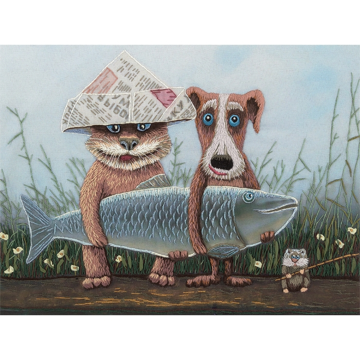 """Набор для вышивания PANNA """"Живая картина"""" арт. JK-2075 Большая рыба 25,5х19,5 см"""