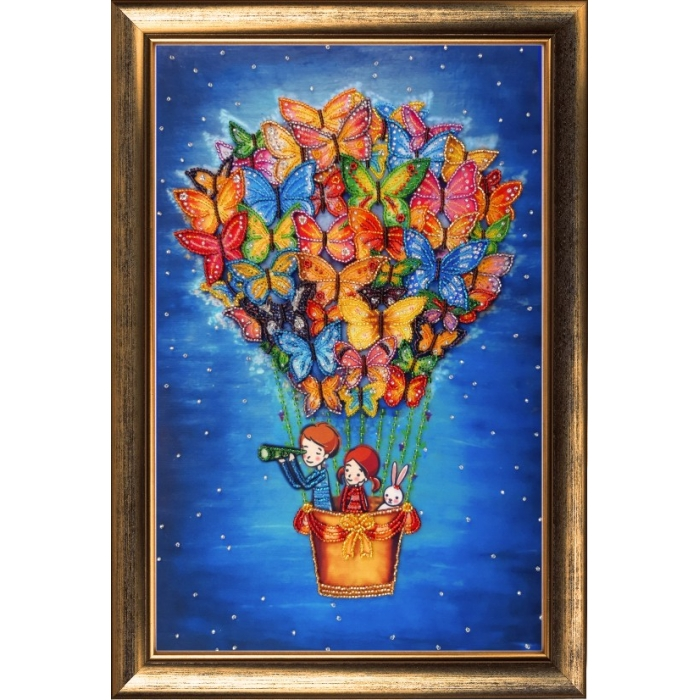 Набор для вышивания BUTTERFLY арт. 124 На воздушном шаре 38х24 см