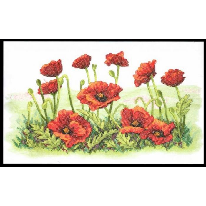 Набор для вышивания DIMENSIONS арт.DMS-03237 Маковое поле 41x25 см